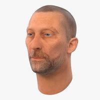 3d model male head 2