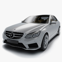 3d model of e-class sedan 2015