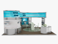 kiosk partition booth 3d 3ds