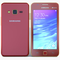 samsung z1 wine red 3d max