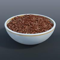 3d model bowl buckwheat