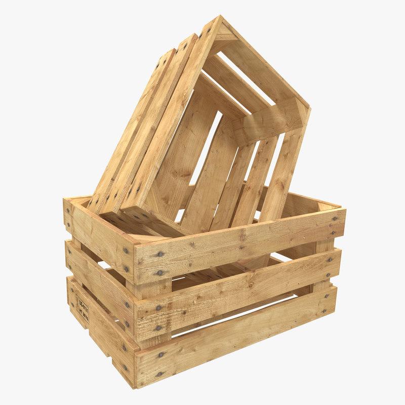 Wooden Fruit Crate 3d model 00.jpg