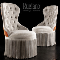 chair rugiano king 3d model