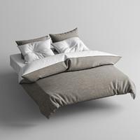 3dsmax bed bedclothes clothes