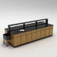 3d laboratory table model