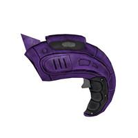 3ds organic laser futuristic gun
