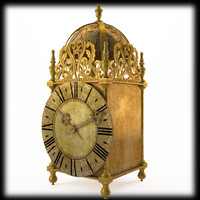 3d model of 18th clock