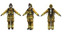 firefighter 3d model