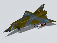 saab draken dragon drake 3ds
