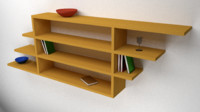 3d wooden shelves