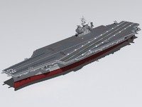 supercarrier uss kitty hawk 3d model