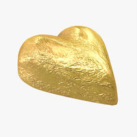 chocolate candy heart gold 3d max