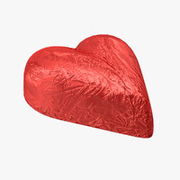 Chocolate Candy Heart in Red Foil