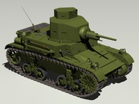light tank m2 m2a4 3d model