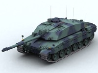 3d model fv4034 challenger 2 battle tank