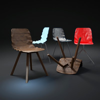 3d model of dent-chairs