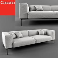 sofa cassina 191 moov 3d max