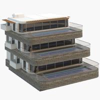 3d model villa 01