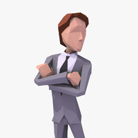 3d rigged cartoon business man