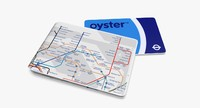 oyster card wallet london underground 3d model