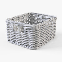 wicker basket ikea byholma obj