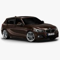 2016 bmw 1 series 3d model