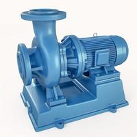 3d pump centrifugal model