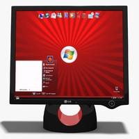 monitor lg l1900r 3d max