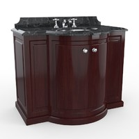 3d clarence devon bathroom furniture model