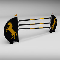 3d horse jumping obstacle model