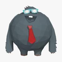 character 3d obj