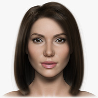 3d model woman girl female