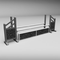 3d model of horse jumping obstacle