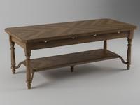 3d table coffee wood