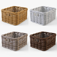 3d wicker basket ikea byholma model