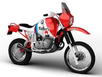 3d bmw gs980r dakar 1985 model