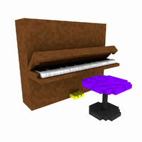 3d minecraft piano pack model