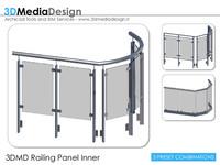 3DMD Railing Panel Inner