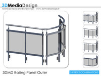 3DMD Railing Panel Outer V1.0 A16