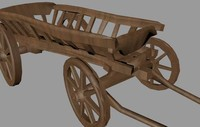 3d model of waggon cart