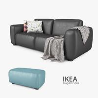ikea dagarn sofa seat 3d model