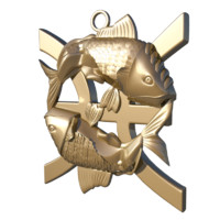 3d horoscope signs pisces model