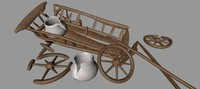 Low poly Waggon Wreck