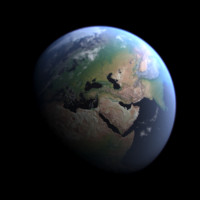 realistic planet earth 3d model