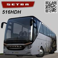 setra 516 hdh 3d model