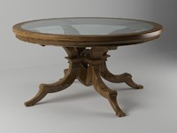 wooden circle table 5