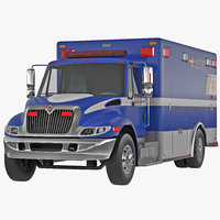 3d international durastar ambulance 3