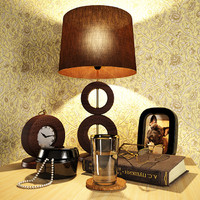 decorative bedside tables 3d obj