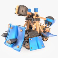 Cartoon Armored Catapult