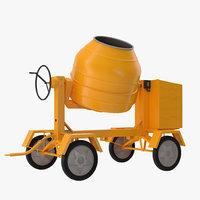 cement mixer 2 3d max